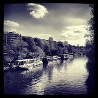 Photo taken at Pont de Levallois by Fred L. on 4/23/2013