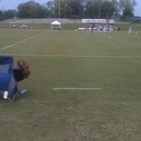 Photo taken at Morgan Brothers Soccer Field by Marcus B. on 9/16/2012