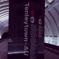 Photo taken at Tenleytown-AU Metro Station by Meron Z. on 5/5/2013