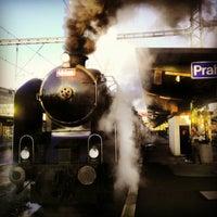 Photo taken at Prague Masaryk Railway Station by Martin K. on 10/13/2012