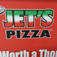 Photo taken at Jet's Pizza by Thomas O. on 12/25/2013