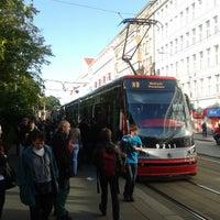 Photo taken at Karlovo náměstí (tram, bus) by Zdeněk M. on 6/5/2013