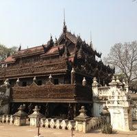 Photo taken at Golden Palace (Shwenandaw Kyaung) Monestary by Benjamin 🚀 on 3/3/2013