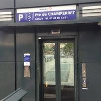Photo taken at Vinci Parking Porte De Champeret by Antoine M. on 1/6/2013