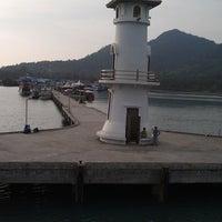 Photo taken at Bang Bao Lighthouse by BK M. on 4/9/2013