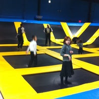 Photo taken at Bounce Trampoline Sports by Tommy H. on 10/5/2012