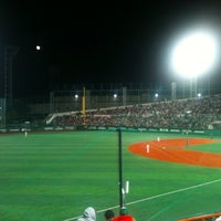 Photo taken at Mokdong Baseball Stadium by Benjamin C. on 10/2/2012