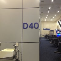 Photo taken at Gate D40 by Rudy J. on 2/5/2013