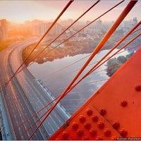 Photo taken at Zhivopisny Bridge by Olka on 1/27/2013