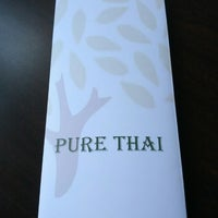 Photo taken at Pure Thai by Justin D. on 7/18/2013