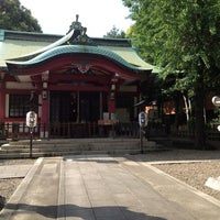 Photo taken at 市谷亀岡八幡宮 by K I. on 7/21/2013