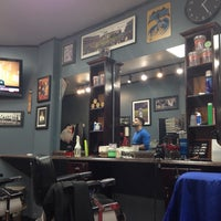 Photo taken at Bedford Barbers by Joey P. on 10/16/2013