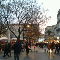 Photo taken at Place Jean Jaurès by ANA B. on 12/28/2012