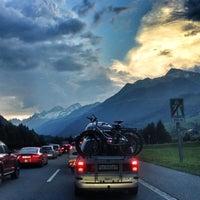 Photo taken at Gotthard Strassentunnel by Anton A. on 7/20/2013