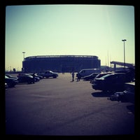 Photo taken at Meadowlands Parking Lot by Mary Ann P. on 4/28/2013