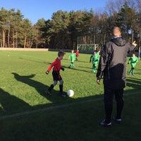 Photo taken at Voetbal K Hechtel FC by Inge P. on 1/10/2016