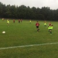 Photo taken at Voetbal K Hechtel FC by Inge P. on 10/15/2016