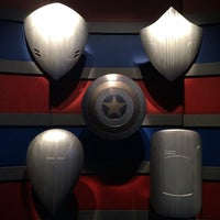 Photo taken at Captain America: The Living Legend and Symbol of Courage by A on 4/20/2014