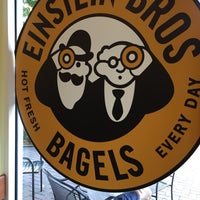 Photo taken at Einstein Bros Bagels by Ryan D. on 4/25/2017
