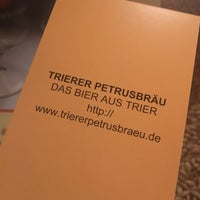 Photo taken at Trierer Petrusbräu (Brauereiausschank) by Stephanie S. on 12/26/2016