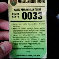 Photo taken at Pengadilan Negeri Bandung by Dhee O. on 6/14/2013