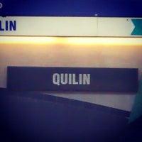 Photo taken at Metro Quilín by Rodrigo T. on 4/22/2013