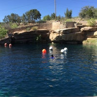 Photo taken at Blue Hole by y n. on 5/22/2016