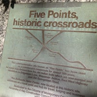 Photo taken at Five Points Historic Crossroads by William D. on 7/7/2013