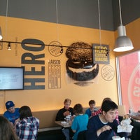 Photo taken at Hero Certified Burgers by Phil B. on 3/29/2013
