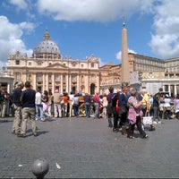 Photo taken at Saint Peter's Square by Serenella R. on 5/19/2013