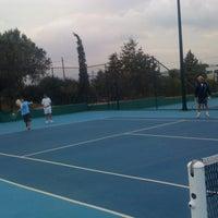 Photo taken at Kalovelonis Pikermi Tennis Club by Karina N. on 10/24/2012