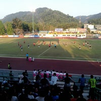 Photo taken at Ranong Province Stadium by Kyu D. on 3/2/2014