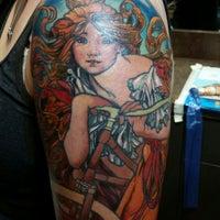 Photo taken at Lark Tattoo by Laura K. on 10/14/2014