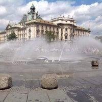 Photo taken at Karlsplatz (Stachus) by Danil Z. on 8/11/2013
