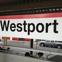 Photo taken at Metro North - Westport Train Station by John R D. on 1/19/2013