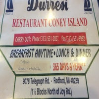 Photo taken at Durresi Restaurant Coney Island by Ginger L. on 8/30/2013
