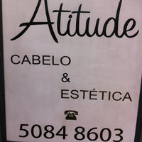 Photo taken at Atitude Cabelo e Estética by Erick A. on 5/25/2013