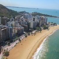 Photo taken at Praia da Costa by Carla B. on 10/17/2012