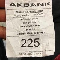 Photo taken at Akbank Ağrı Şubesi by Özkan on 8/28/2017