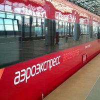 Photo taken at Aeroexpress Terminal at Belorusski Railway Station by Anete Z. on 5/2/2013