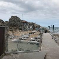 9/4/2017 tarihinde Leyla H.ziyaretçi tarafından Iyot Restaurant Cafe & Beach'de çekilen fotoğraf