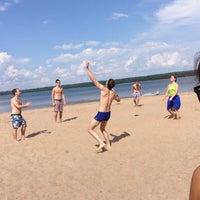 Photo taken at Пляж Прибой by Polina B. on 8/10/2014