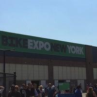 Photo taken at Bike Expo New York- Pier 36 by Shintaro O. on 5/2/2015