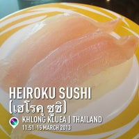 Photo taken at Heiroku Sushi by Suluck P. on 3/15/2013