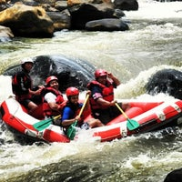 Photo taken at Arus liar, citarik Rafting sukabumi West Java by Asep I. on 3/21/2013