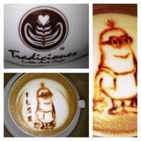 Photo taken at Tradiciones Latte Art Café by Silke D. on 7/24/2013