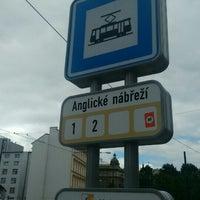 Photo taken at Anglické nábřeží (tram) by Ales Z. on 6/23/2015
