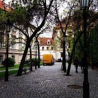 Photo taken at Ledeburská zahrada   Ladeburg Garden by Sofia F. on 5/10/2014