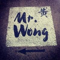 Photo taken at Mr. Wong by Kristine N. on 10/11/2012