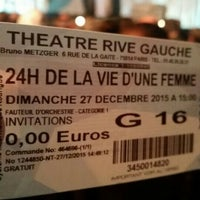 Photo taken at Théâtre Rive Gauche by Shana C. on 12/27/2015